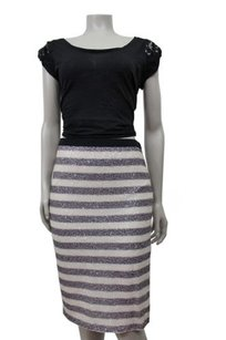 Rachel Roy Gray Skirt Ivory