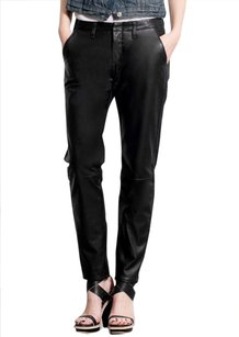 Rag & Bone Leather Trouser Pants black