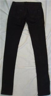 Rag & Bone Womens Coated Black Skinny Jeans