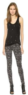 Rag & Bone The Leopard Gray Skinny Jeans-Dark Rinse