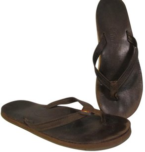 Rainbow Sandals Flip Flops Thong Beach brown Flats