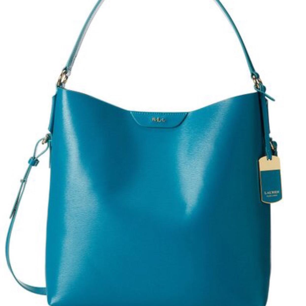 Ralph Lauren (turquoise) Hobo Bag durable service ...