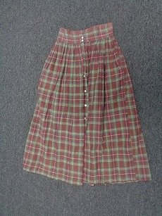 Ralph Lauren Long Sma989 Skirt Brown And Green
