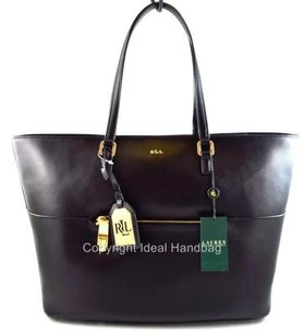 Ralph Lauren Leather Whitby Tote in Black