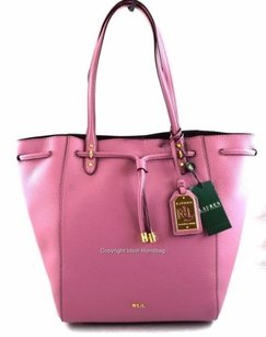 Ralph Lauren Leather Oxford Tote in Pink