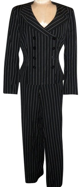 Preload https://item5.tradesy.com/images/ralph-lauren-black-white-and-striped-set-jacket-12-and-10-pant-suit-size-847774-0-1.jpg?width=400&height=650