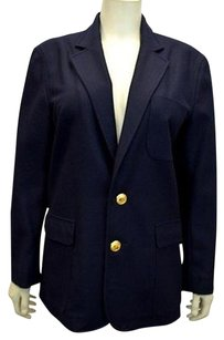 Ralph Lauren Navy Classic Wool Button Down 90229hp Blues Jacket