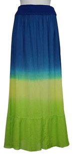Ralph Lauren Blue Label Womens Casual Stretchy Color Block Maxi Skirt Blue