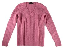 Ralph Lauren Cable Knit Lauren Pink Rbk Sweater