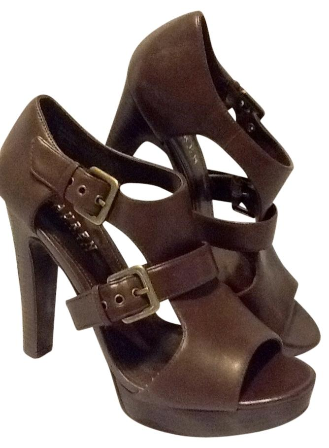 7c60ac0d770a Ralph Lauren Chocolate Brown Leather Gladiator Platforms Size US US US 7.5  Regular (M