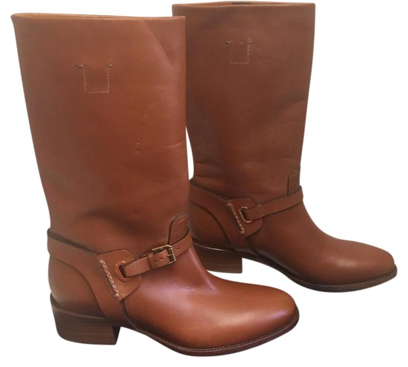 Ralph Lauren Collection Cognac Brown Purple Label Leather 8 Equestrian Boots/Booties Size US 8 Leather Regular (M, B) 25338f