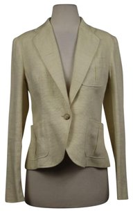 Ralph Lauren Ralph Lauren Womens Creme Textured Blazer Wtw Long Sleeve Jacket Outer Wear
