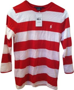Ralph Lauren T Shirt Red White Stripe
