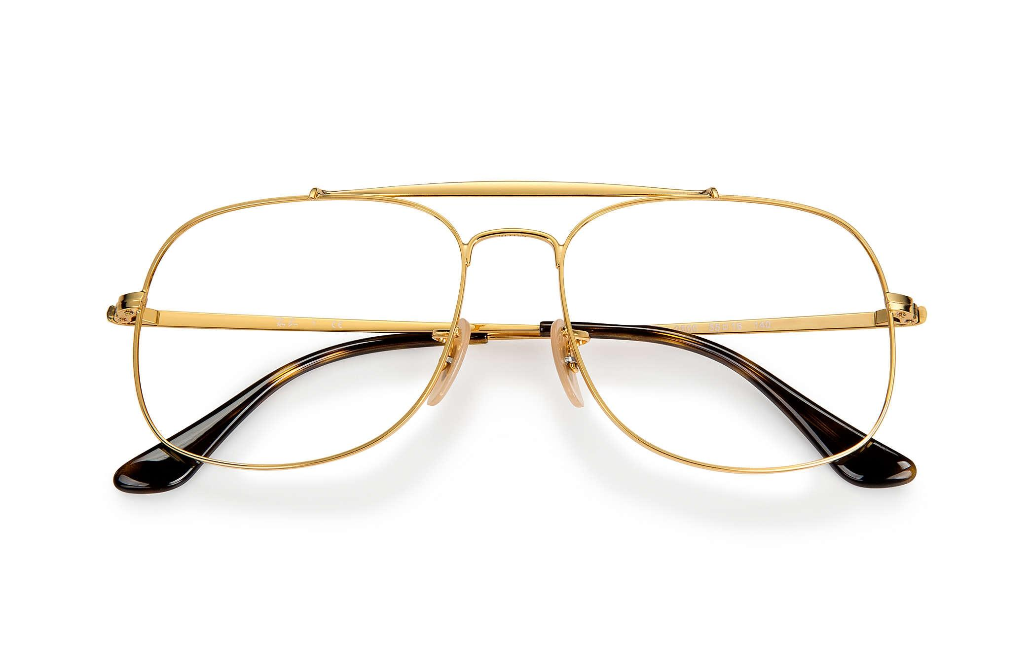 726cc1a987b ... germany ray ban new ray ban rb6389 square aviator gold eyeglasses frames  2f109 f414a
