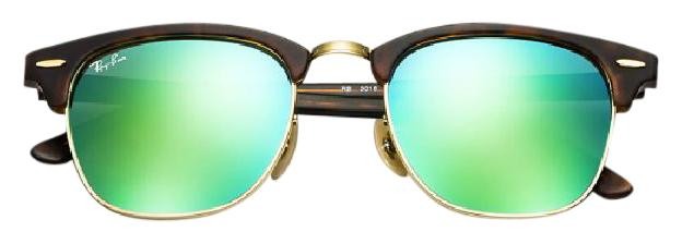 429a81ccf Ray-Ban Green Clubmaster Flash Lense Rb3016 114519 Unisex Sunglasses -  Tradesy