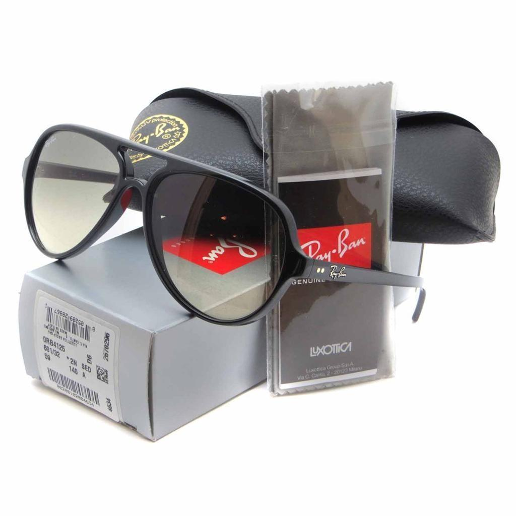 3e90d6738f60f coupon code ray ban rb4125 cats sunglasses purple frame grey fade effect  75ccc 7a67b