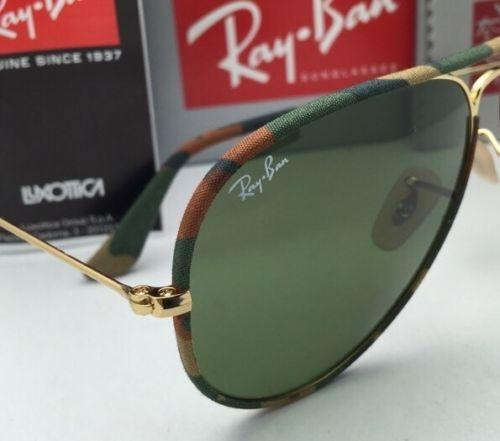 1df69fb1d5 ... good ray ban rb 3025 j m 168 4e multi color camouflage w green lens new  aviator