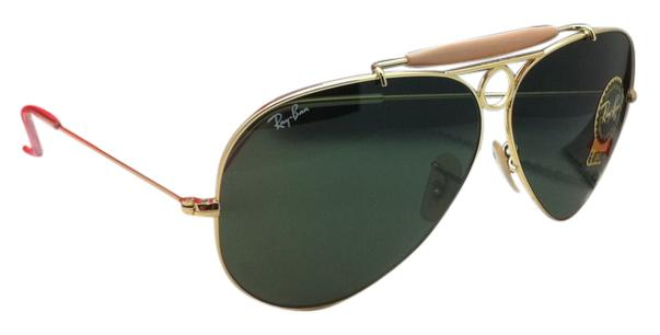3c27fe91ddbdd ... aviator sunglasses green online at johnlewis fb0ac 4dd95  spain ray ban  ray ban sunglasses rb 3138 shooter 001 62 09 arista gold 41529 f7e85