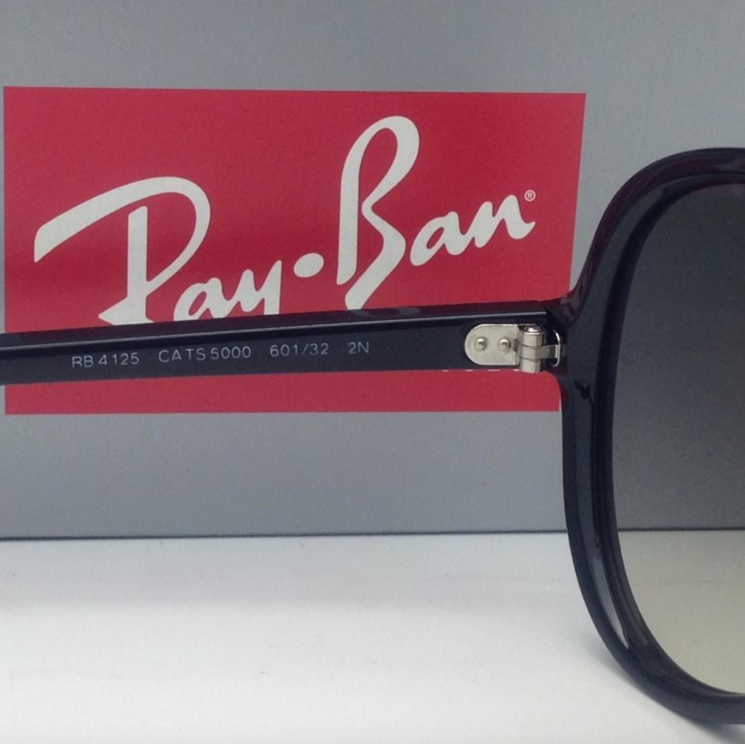479197a4522 ... 50% off ray ban rb 4125 cats 5000 601 32 59 13 black w grey