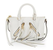 Rebecca Minkoff Leather Moto Gold New With Cross Body Bag