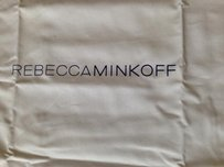 Rebecca Minkoff New Rebecca Minkoff White Dustbag w/Navy Letter and Drawstrng