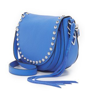 Rebecca Minkoff New With Blue Silver Leather Edgy Cross Body Bag