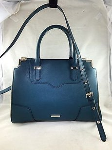 Rebecca Minkoff Canvas Satchel in Teal