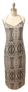 Black/White Maxi Dress by Rebecca Minkoff Snake Voile Midi