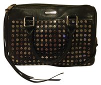 Rebecca Minkoff Studs Studded Satchel in Black, silver