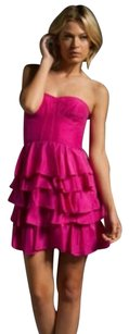 Rebecca Taylor Silk Strapless Tiered Ruffle Dress