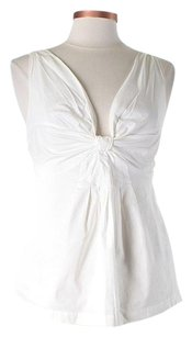 Rebecca Taylor Sleeveless Knotted Top White