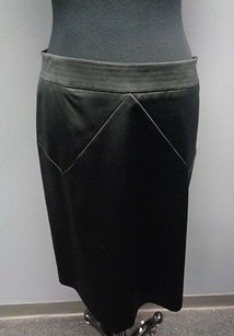 Rebecca Taylor Polyester Blend Fitted Lined Pencil Sm3299 Skirt Black