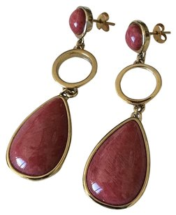 Red stones Red Stones Dangle Earrings