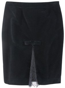 RED Valentino 42 Black Pencil Red Yh Skirt