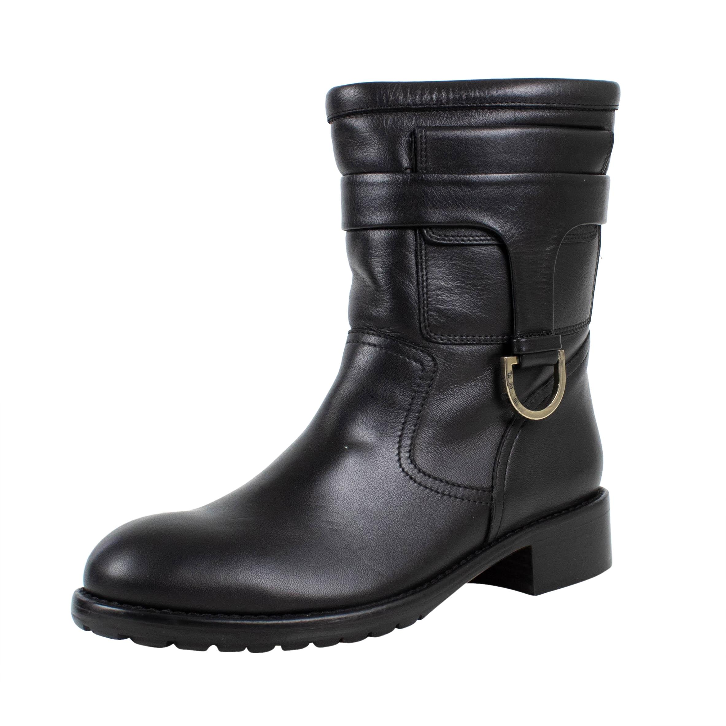 fca2d2c718e5 RED Valentino Valentino Valentino Black Mid Calf Leather Boots Booties Size  US 7 Regular (M