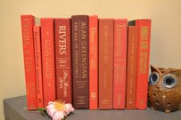 Red 1025- Vintage Style Books - Set Of 10