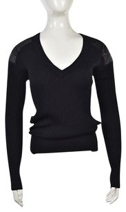 Reed Krakoff Womens Color Block V Neck Shirt Sweater