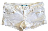 Refuge Jeans Cuffed Shorts White