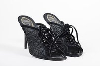 Rene Caovilla Beaded Black Mules