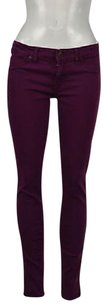 Rich & Skinny Amp Womens Fuchsia Colored Pants Skinny Jeans