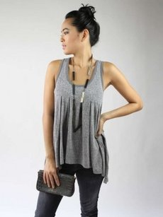 Robbi & Nikki by Robert Rodriguez Top Grey