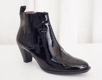 Robert Clergerie Womens Patent Leather Ankle Black Boots