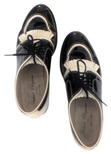 Robert Clergerie Patent Leather Black and white Flats