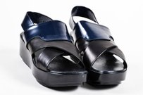 Robert Clergerie Navy Black Sandals