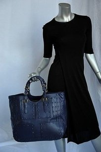 Roberto Cavalli Giant French Tote in Blues