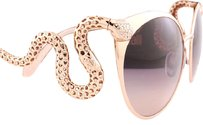 Roberto Cavalli Brand New Roberto Cavalli Sunglasses RC 890S 28F Rose Gold/Brown For W