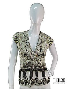 Roberto Cavalli Neutral Print Top NEUTRALS
