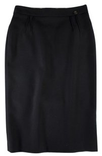 Roberto Cavalli Straight Pencil Skirt Black