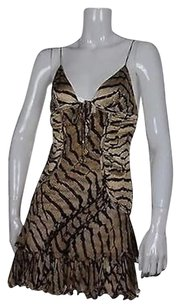Roberto Cavalli Womens Beige Dress