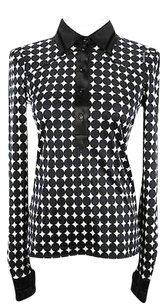 Roberto Cavalli Polka Dot Top black